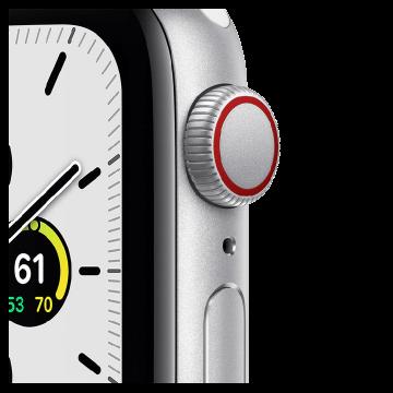 Apple Watch SE GPS 40mm Silver Aluminium Case Sport Band
